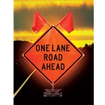 """1/2 Mile"" Overlay for 36"" x 36"" Reflective Signs"