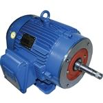 WEG TEFC Motor, Foot Mount, 3 PH, 1 HP, 3435 RPM, W56J Frame, 208-230/460V, 00136ET3EJP56J-S