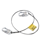 "8' SS 1/4"" Wire Rope Lanyard with 2 Locking Snap Hooks"