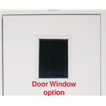 "Door Window Option for Fiberglass Shelters' 12"" x 18"" (Factory Installed)"