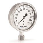 "Ashcroft® 4"" All-SS Liquid-Filled Gauge w/ 1/2"" Connection' 0 to 100 PSI' 1009 Series"
