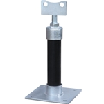 "Pipe & Meter Support Stand' Adjustable Height' Electro-Galvanized Steel' 3"" Flanged Style"