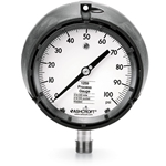 "Ashcroft® 4.5"" 316 SS Process Gauge' 0 to 100 PSI' Dry' 1/2""NPT Conn' 1259 Series"