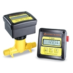 "Blue-White® DIGI-METER® F-2000 Flowmeter' 1.5"" PP Tee' 6-60 GPM' Remote-Mount Display' Totalizer' RTP115M2GM2"
