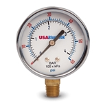 "USABlueBook 3.5"" Gauge' 0 to 160 psi' Brass' Dry' Steel Case"