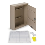 "Key Cabinet (Holds 28 Keys)' 10-1/2""W x 12-1/8""H x 3""D"