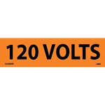 "Electrical Safety Markers: ""120 Volts'"" Vinyl' 1-1/8"" x 4.5""' 25/Pack"