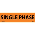 "Electrical Safety Markers: ""Single Phase'"" Vinyl' 1-1/8"" x 4.5""' 25/Pack"