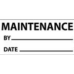 "Write-On Vinyl Inspection/Calibration Labels: ""Maintenance"" (Black)' 1"" x 2-1/4""' 25/Pack"