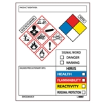 GHS Secondary Containment Labels' 250/Pack
