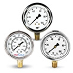 Liquid Filled Pressure Gauges:  2 & 2.5-inch