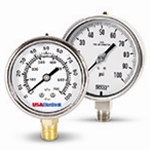 Liquid Filled Pressure Gauges:  4-inch