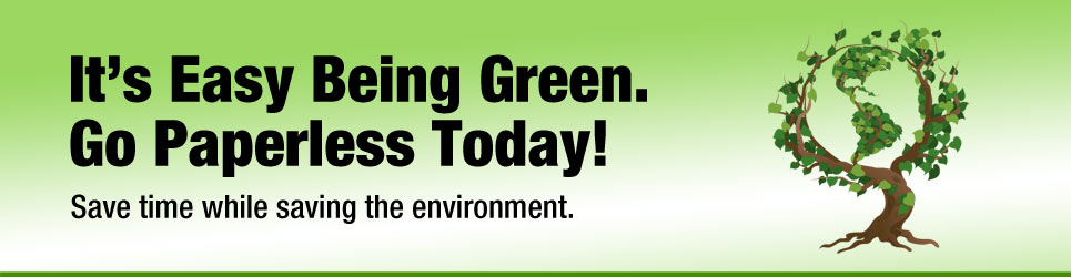 Go Green with paperless invoicing!