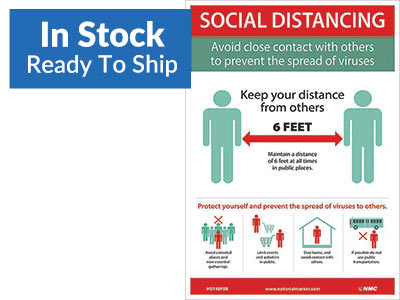 Social Distancing Removable Wall Sign