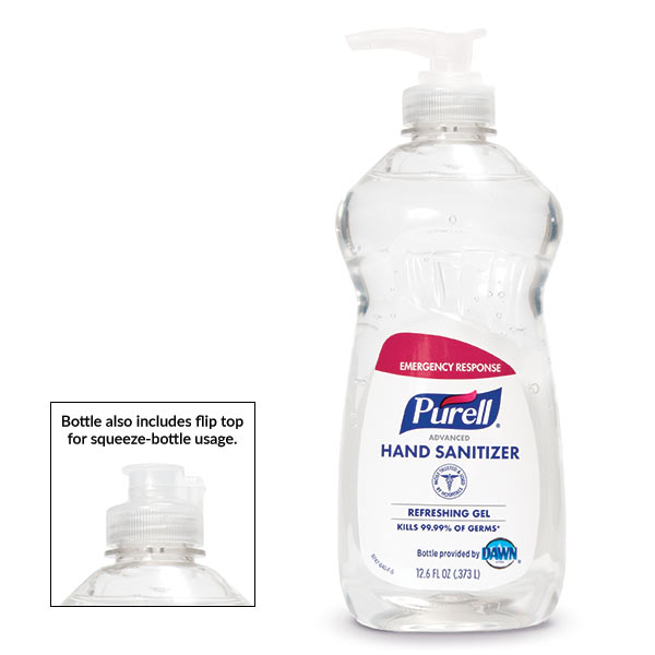 PURELL® Advanced Hand Sanitizer Squeeze Bottle with Pump