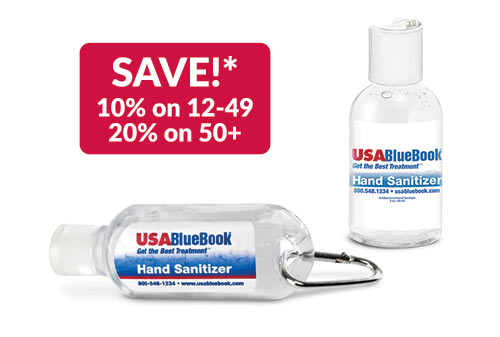 USABlueBook Personal-Sized Gel Hand Sanitizers