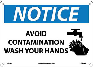Avoid Contamination: Wash Your Hands Wall Sign