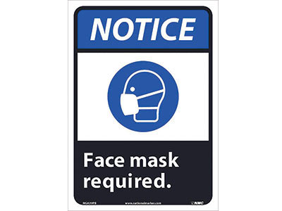 Face Mask Required Wall Sign