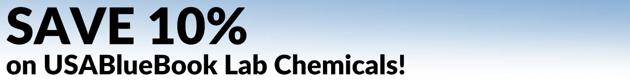 SAVE 10% on USABlueBook Lab Chemicals!