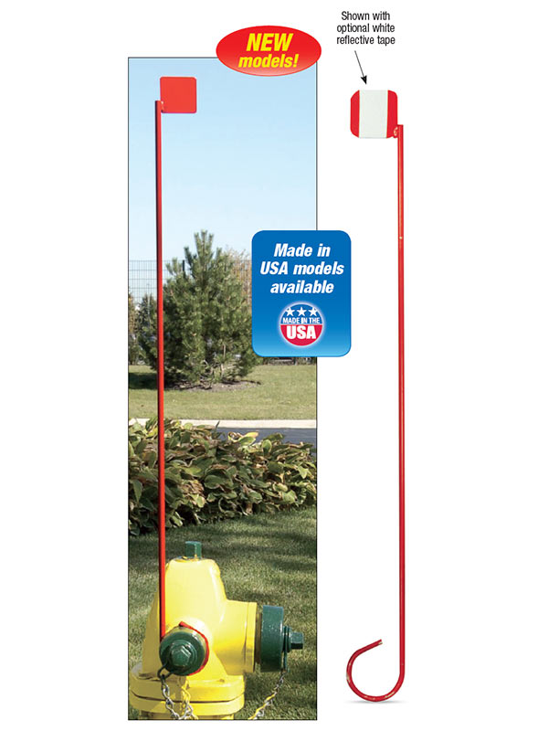 Steel Hydrant Markers with Flag