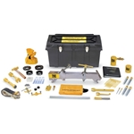 These emergency kits contain everything needed to stop leaks at the valve, fusible plug, and in the wall of chlorine cylinders which conform to specification DOT 3A480. The