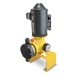 MacRoy mechanically-actuated diaphragm pumps are a cost-effective solution for chemical dosing. These durable pumps run smoothly, thanks to their low-friction bronze gears and robust worm gear drive. Their lockable micrometer prevents drifting. Manual control models feature an AC 1725-rpm motor. ...