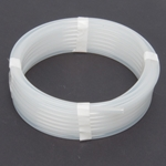 "PE Discharge Tubing (Translucent), 1/4""OD x 0.17""ID, 205 PSI, 25'L Roll"