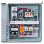 Single-phase WWTP blower control panels include many features normally found only in expensive custom panels costing $100s more. These include: Enclosure: weatherproof NEMA 4X enclosure with lockable latch & ground lug. Contactors: IEC contactors with adjustable Class 10 overloads and ...