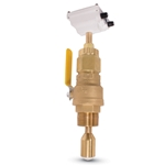 Seametrics Insertion Electromagnetic Hot Tap Flowmeter (Brass with Bronze Ball Valve), 10 to 48
