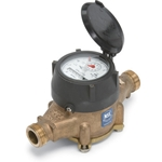 Zenner Lead-Free Multi-Jet Water Meter, Gallons, 1 inch
