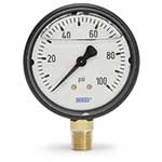 Liquid-filled gauges absorb shock, provide pointer stability and protect against internal damage. They are designed to perform in rugged applications and harsh environmental conditions. Features copper alloy wetted materials. CAUTION: Do not use these gauges for chlorine applications. Per the ...