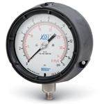 These premium process gauges feature 0.5% accuracy over the full range, 316 SS internals and stem, and a large dual scale. The rugged polypropylene case may be surface-mounted, and is available in dry or liquid-filled versions. Conforms to ANSI B40.1. ...