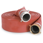 Red/Orange Heavy-Duty PVC Discharge Hose, 1-1/2