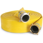 Construction: heavy PVC/nitrile blend reinforced withg an extra-heavy fabric. Note: Max psi varies based on couplings installed. Shipping: Ships motor freight.