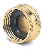 Use these solid brass hose caps to seal off the end of your hose. They keep your hose clear of bugs and debris when not in use. 3/4