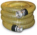 Pliable' smooth interior with tough abrasion resistant black plastic ribs. Flexible to -50°F. Hose with couplings sold in 20-ft lengths. Continuous lengths up to 60 ft are available. NPSM threads (same as NPS and IPS). Hose not sold without couplings ...
