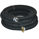Construction: black smooth EPDM blend rubber tube, fabric plies and steel wire spiral for full vacuum service. Black rubber cover. Note: Hose is available in 8