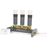 Manifolds provide vacuum filtration ideal for coliform and suspended solids testing. Perform simultaneous filtration of up to three samples with the three-stack manifold or six samples with the six-stack manifold. Durable PVC construction and brass valves provide years of service ...