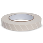 Be sure that adequate sterilization temperatures have been met during the autoclave cycle. Indicator bars in the tape turn black after 15 minutes exposure to steam heat at 121°C (250°F). Sixty yards per roll, 3/4