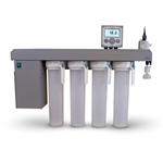The E-Pure is an economical' easy-to-use' 4-cartridge system that provides you with up to 2 L/min of Type I reagent grade water. Wall-mounted design saves valuable bench space. A continuous recirculation pump maintains water purity and a digital resistivity meter ...