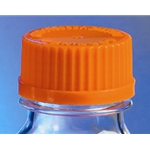 Replacement cap for Pyrex® Erlenmeyer Wide-Mouth Screw Cap Flasks.