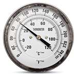 Positive displacement blower discharge air temperature can exceed 200°F in some applications, especially when they are operating at high pressure and low rpm. Use this gauge to monitor air temperature at your blower and throughout your system. Stainless steel case ...