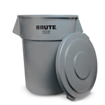 Flat Lid for 32-Gal Brute Round Container, Gray