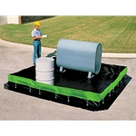 Rugged PVC sidewall assemblies support the sidewalls of these berms. Simply swivel the feet of the supports to lower or raise the sidewalls in seconds. Copolymer material offers great resistance due to its reinforced polymer-coated fabric. Custom sizes are available. ...