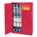 Store your paint safely and neatly with these rugged paint storage cabinets! All models feature 18-gauge steel double-wall construction with baked-on' high-gloss' epoxy powder finish for rust prevention. Cabinets also have an electrical ground connection for added safety' 2