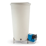 Pulsafeeder tanks are made from industrial-grade polyethylene for optimum durability and chemical compatibility. They feature a heavy-duty cover and covered feed ports. Maximum temperature rating is 140°F. This flooded-suction tank offers optimized pump performance. Includes: removable lid and pre-installed ...