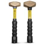 Nupla mallets and hammers are engineered and tested for superior balance, strength and durability. They have exceptionally strong yet lightweight fiberglass handles. Handles feature a non-slip, comfortable grip that minimizes shock and vibration. These solid naval brass hammers provide the ...