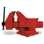 Combine advantages of a swivel base, pipe vise, and anvil in one unit. Steel channel slide and hardened steel jaws. Very good quality. Shipping: Quantities of 3+ ship motor freight.