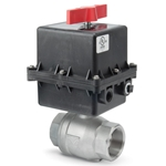 These valves offer an alternative to solenoid valves in water service applications. 316 stainless steel construction allows exceptional strength at all temperatures. High-cycle PTFE and Viton® seals provide excellent chemical resistance. Actuators feature NEMA 4X housings for protection from the ...