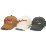 This classic baseball style cap is made of 100% cotton canvas. The light structured medium profile cap has a pre-curved visor and adjustable fit with a brass closure.